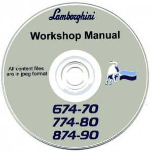 LAMBORGHINI 674-70, 774-80 & 874-90 TRACTOR WORKSHOP MANUAL ON CD