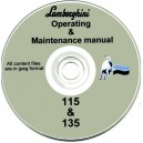 LAMBORGHINI 115 & 135 TRACTOR OPERATING & MAINTENANCE MANUAL ON CD