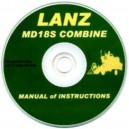 LANZ MD185 COMBINE INSTRUCTION MANUAL ON CD