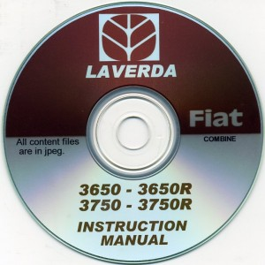 LAVERDA FIAT 3650-3650R & 3750-3750R INSTRUCTION MANUAL ON CD