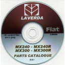 LAVERDA-FIAT MX240-MX240R & MX300-MX300R PARTS CATALOGUE ON CD