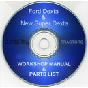 FORD DEXTA & NEW SUPER DEXTA WORKSHOP MANUAL & PARTS LIST ON CD