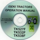 ISEKI TK527F, TK532F & TK538F OPERATORS MANUAL ON CD