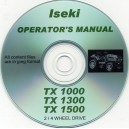 ISEKI TX 1000, 1300 & 1500 OPERATING MANUAL ON CD