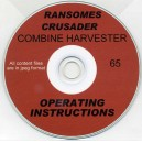 RANSOMES CRUSADER COMBINE OPERATORS INSTRUCTION MANUAL ON CD