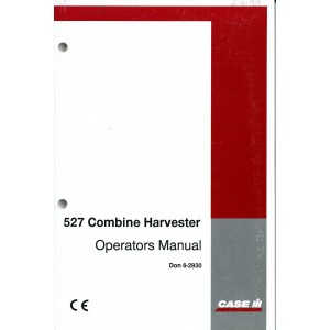 ORIGINAL CASE 527 COMBINE OPERATOR'S MANUAL