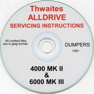 THWAITES ALLDRIVE 4000 MK II & 6000 MK III SERVICE MANUAL ON CD