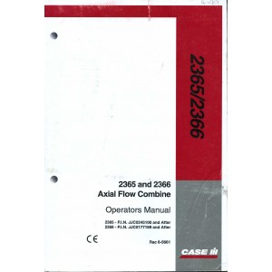 ORIGINAL CASE 2365 & 2366 OPERATORS MANUAL