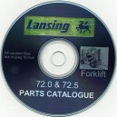LANSING FORKLIFT 72.0 & 72.5 PARTS LIST ON CD