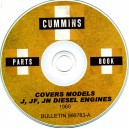 CUMMINS J, JF, JN DIESEL ENGINES PARTS BOOK ON CD