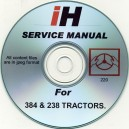 INTERNATIONAL HARVESTER 384 - 238 TRACTOR SERVICE MANUAL ON CD