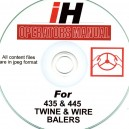 INTERNATIONAL HARVESTER 435 - 445 BALER OPERATORS MANUAL ON CD