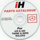 INTERNATIONAL HARVESTER 435-445 BALER PARTS CATALOGUE ON CD