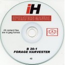 INTERNATIONAL HARVESTER B20-1 FORAGE HARVESTER OPERATING INSTRUCTIONS ON CD
