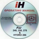INTERNATIONAL HARVESTER 248, 258, 278 + HYDRO 268 INDUSTRIAL TRACTORS OPERATING MANUAL ON CD