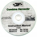 JF MS90-240, MS90-210, MS70-180, MS70-150 COMBINE INSTRUCTION MANUAL ON CD