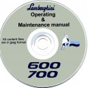 LAMBORGHINI 600 & 700 TRACTORS OPERATING & MAINTENANCE MANUAL ON CD