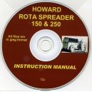 HOWARD ROTA SPREADER 150 & 250 INSTRUCTION MANUAL ON CD