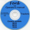 FORD 5610, 6610, 7610 OPERATING MANUAL ON CD