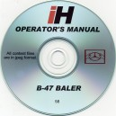 INTERNATIONAL HARVESTER B-47 BALER OPERATOR'S MANUAL ON CD