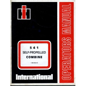 original International Harvester 541 combine operators manual