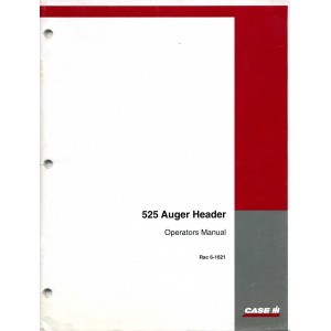 ORIGINAL CASE 525 AUGER HEADER OPERATORS MANUAL