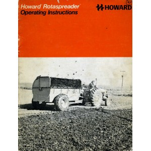 ORIGINAL OPERATING INSTRUCTIONS FOR HOWARD ROTASPREADER 100, 150 & 250