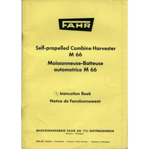 ORIGINAL FAHR M 66 INSTRUCTION BOOK IN VERY GOOD CONDITION