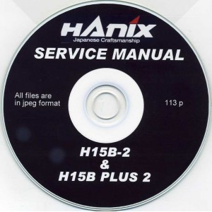 HANIX H15B-2 & H15B plus 2 SERVICE MANUAL ON CD