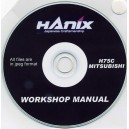 HANIX H75C-MITSUBISHI WORKSHOP MANUAL ON CD