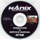 HANIX H75B OPERATIONS & SERVICE MANUAL ON CD