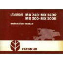 LAVERDA / FIAT MX240, MX240R, MX300, MX300R INSTRUCTION MANUAL