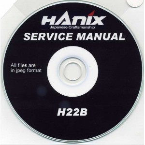 HANIX H22B SERVICE MANUAL ON CD