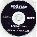 HANIX H36B OPERATIONS & SERVICE MANUAL ON CD