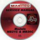 MANITOU MB21C, MB26C FORKLIFT SERVICE MANUAL ON CD