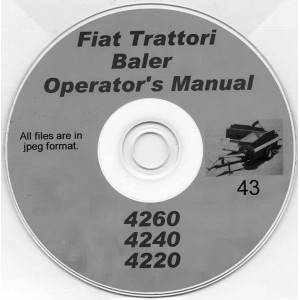 FIAT TTTORI 4260, 4240 & 4220 BALER OPERATOR'S MANUAL ON CD