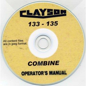 CLAYSON 133 - 135 COMBINE OPERATOR'S MANUAL ON CD
