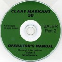 CLAAS MARKANT 50 BALER OPERATOR'S MANUAL PART 2 ON CD