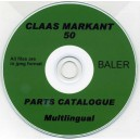 CLAAS MARKANT 50 BALER PARTS CATALOGUE ON CD MULTILINGUAL.