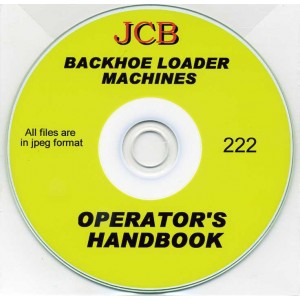 JCB BACKHOE LOADER MACHINES OPERATOR'S HANDBOOK ON CD