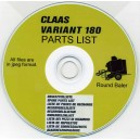 CLAAS VARIANT 180 BALER MULTILINGUAL PARTS LIST ON CD