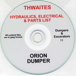 THWAITES ORION DUMPER HYDRAULICS, ELECTRICAL & PARTS LIST ON CD