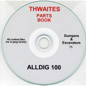 THWAITES ALLDIG 100 PARTS BOOK ON CD