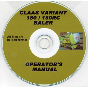 CLAAS VARIANT 180-180RC BALER OPERATOR'S MANUAL ON CD