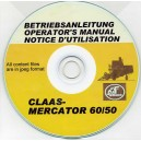 CLAAS MERCATOR 60/50 COMBINE OPERATOR'S MANUAL ON CD