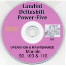 LANDINI 90, 100 & 110 TRACTOR OPERATION & MAINTENANCE MANUAL ON CD