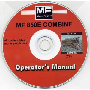 MASSEY FERGUSON MF 850E COMBINE OPERATOR'S MANUAL ON CD