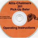 ALLIS CHALMERS 201 BALER OPERATOR'S MANUAL ON CD