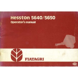 ORIGINAL HESSTON 5640 & 5650 OPERATOR'S MANUAL
