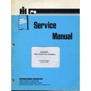 ORIGINAL INTERNATIONAL HARVESTER CHASSIS 1420 AXIAL FLOW COMBINE SERVICE MANUAL